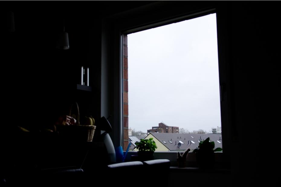 Belichtungsmessung auf das Fenster