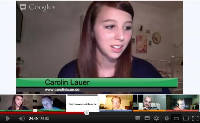 Screenshot aus dem Interview mit Carolin Lauer