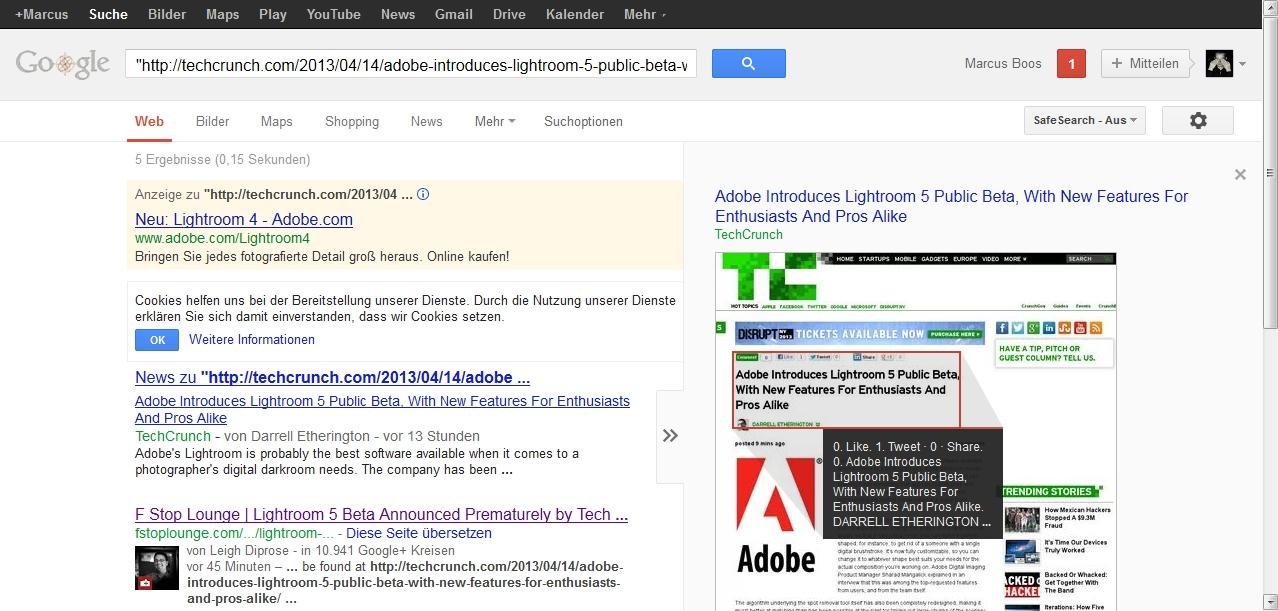 Adobe Lightroom 5 Gerüchte